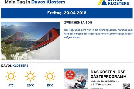 Tagestipp | Davos Klosters Information Platform